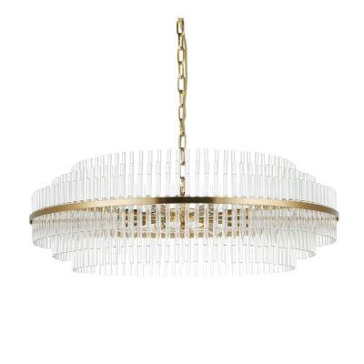 Lawrence Crystal Rod Pendant Light, 78cm