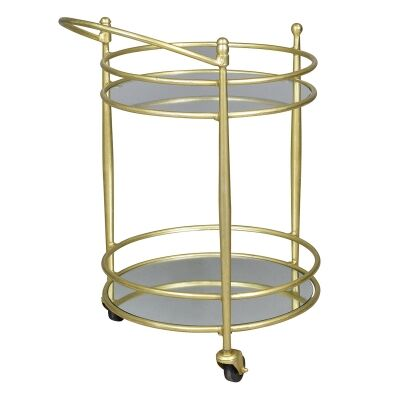 Athena Iron & Mirror Bar Cart