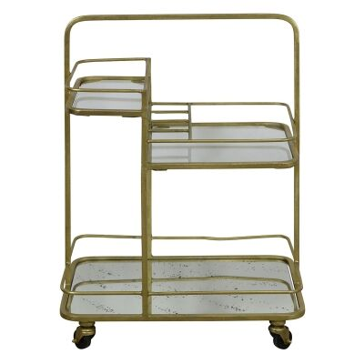 Artemis Iron & Mirror Bar Cart