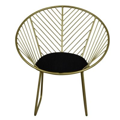 Venus Iron Armchair with Fabric Seat