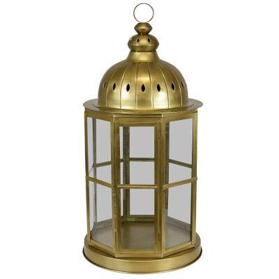 Jeddah Metal & Glass Lantern, Large