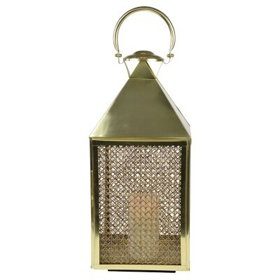 Summerville Metal & Rattan Lantern, Large