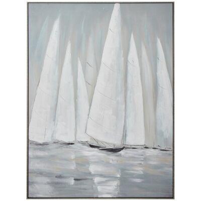 """Regatta"" Framed Textured Canvas Wall Art Print, 120cm"