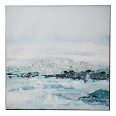 """""""Seaside Breeze"""" Framed Textured Canvas Wall Art Print, 120cm"""