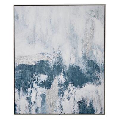 """Cloudy Sky II"" Framed Textured Canvas Wall Art Print, 120cm"