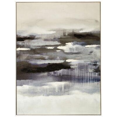 """""""Midnight Tide"""" Framed Canvas Wall Art Print, 120cm"""