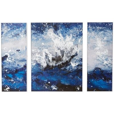"""Rockpool View"" 3 Piece Canvas Wall Art Print Set, 195cm"