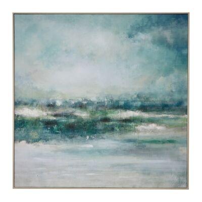 """Ocean View"" Framed Textured Canvas Wall Art Print, 100cm"