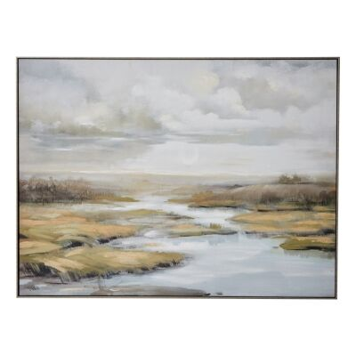 """""""Everglade View"""" Framed Textured Canvas Wall Art Print, 120cm"""