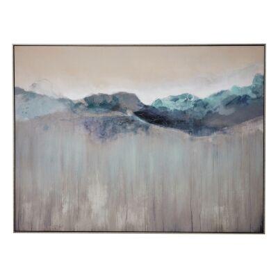 """Morning Dew"" Framed Textured Canvas Wall Art Print, 120cm"