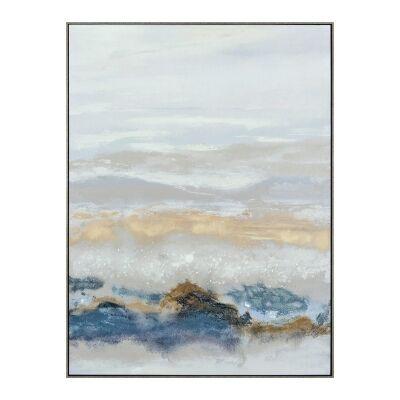 """Vibrant Horizons II"" Framed Textured Canvas Wall Art Print, 120cm"