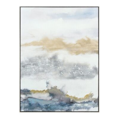 """Vibrant Horizons I"" Framed Textured Canvas Wall Art Print, 120cm"
