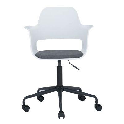 Laxmi Commercial Grade Swivel Office Chair, White
