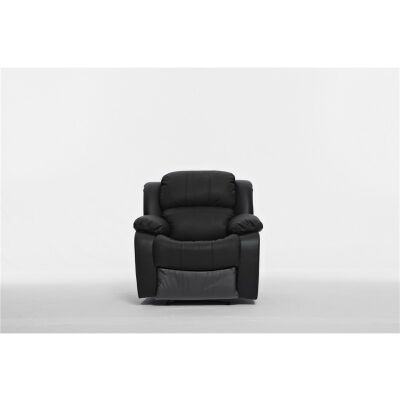 Kacey Leather Recliner Chair, Black