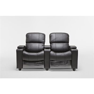 Sophie Leather 2 Seater Push Back Recliner Lounge Suite