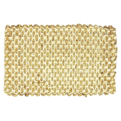 Bow Weave Handspun Jute Doormat, 80x50cm
