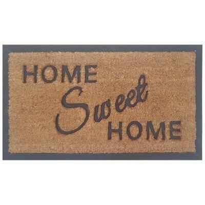 Home Sweet Home Coir & Rubber Doormat, 70x40cm