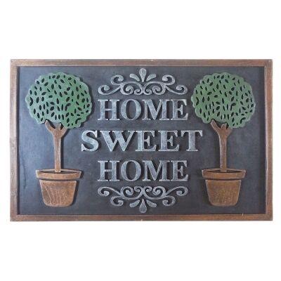 Home Sweet Home Rubber Doormat, 75x45cm