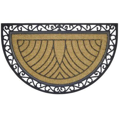 Marinna Coir & Rubber Semi Round Doormat, 120x76cm