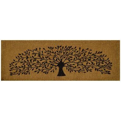 Tree of Life Premium Handwoven Coir Doormat, 120x40cm