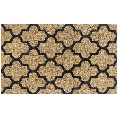 Moroccan Premium Handwoven Coir Doormat, 80x50cm
