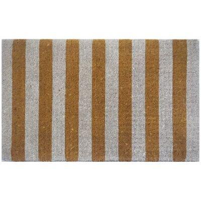 Jesmond Premium Handwoven Coir Doormat, 80x50cm, Hay