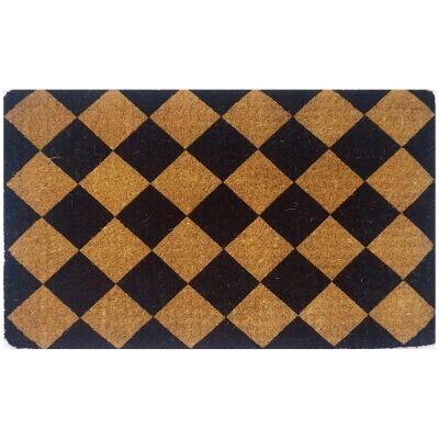 Elermore Premium Handwoven Coir Doormat, 80x50cm