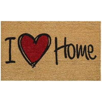 I Love Home Coir Doormat, 80x50cm