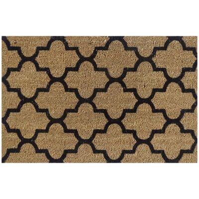 Moroccan Coir Doormat, 75x45cm, Hay