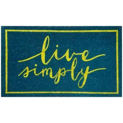 Live Simply Coir Doormat, 75x45cm
