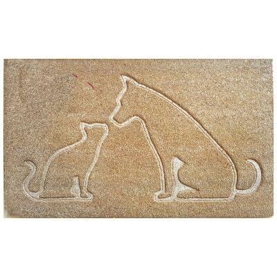 Dog & Cat Pressed Coir Doormat, 75x45cm