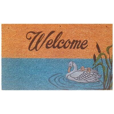 Swan Pond Coir Doormat, 75x45cm