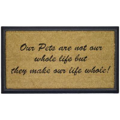 Pets Make Life Whole Coir & Rubber Doormat, 70x40cm