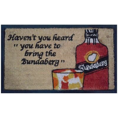 Bring Bundaberg Coir & Rubber Doormat, 70x40cm