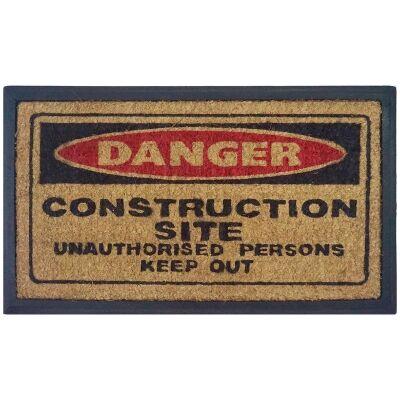 Construction Site Coir & Rubber Doormat, 70x40cm