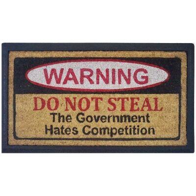 Do Not Steal Coir & Rubber Doormat, 70x40cm