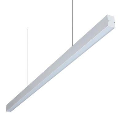 Line-46 LED Linear Pendant Light, 4000K, 120cm, Matt White