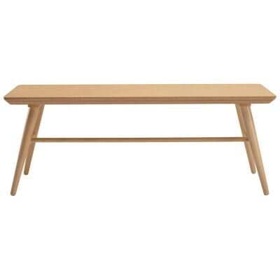 Marrim Wooden Bench, 120cm, Natural
