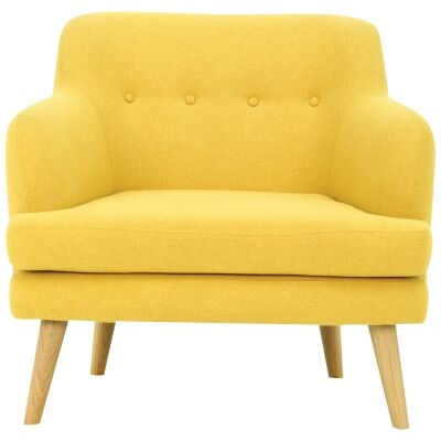 Exelero Commercial Grade Fabric Armchair, Yellow