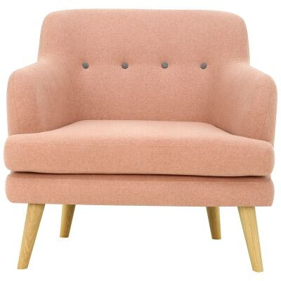 Exelero Commercial Grade Fabric Armchair, Blush