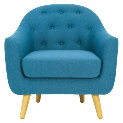 Senku Fabric Armchair, Blue