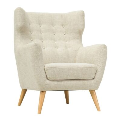 Kanion Commercial Grade Fabric Armchair, Almond