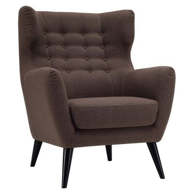 Kanion Commercial Grade Fabric Armchair, Chestnut
