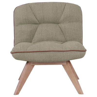 Feiro Commercial Grade Fabric Lounge Chair, Khaki
