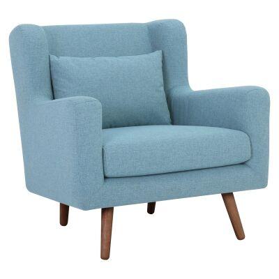 Safari Fabric Armchair, Aquamarine