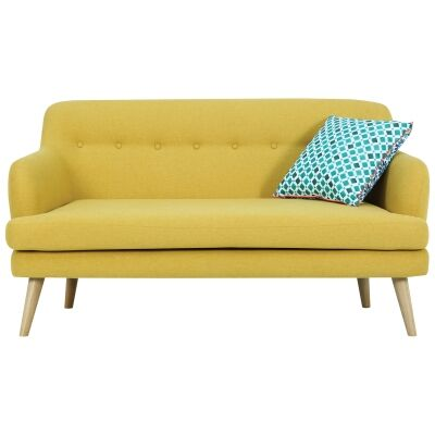 Exelero Commercial Grade Fabric Sofa, 2 Seater, Yellow