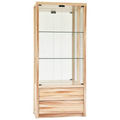 Valerie 2Door 2 Drawer Display Cabinet, Cypress