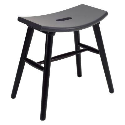 Hollis Oak Timber Table Stool, Black