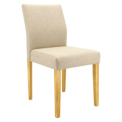 Ladee Fabric Dining Chair, Sand / Natural