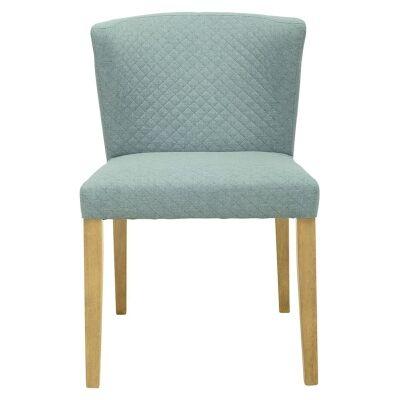 Rhoda Commercial Grade Fabric Dining Chair, Aquamarine / Natural